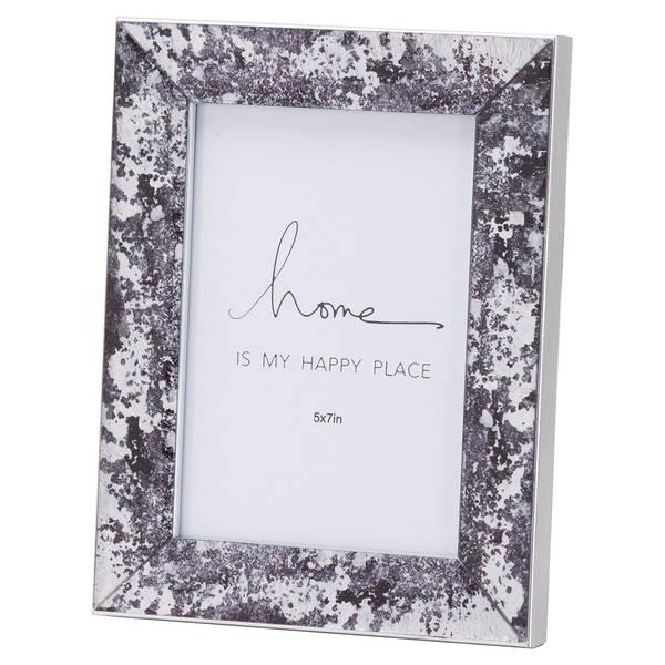 Black Foil Metallic 5X7 Frame - Cosy Home Interiors
