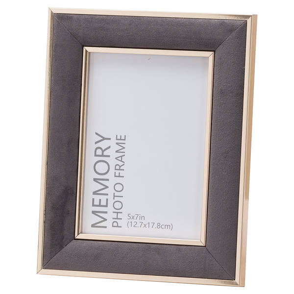Grey Velvet With Gold 5X7 Frame - Cosy Home Interiors