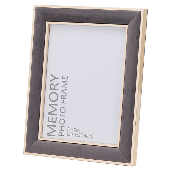 Grey Velvet With Gold 8X10 Frame - Cosy Home Interiors