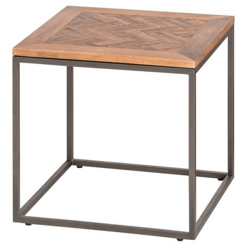 Hoxton Collection Side Table With Parquet Top - Cosy Home Interiors
