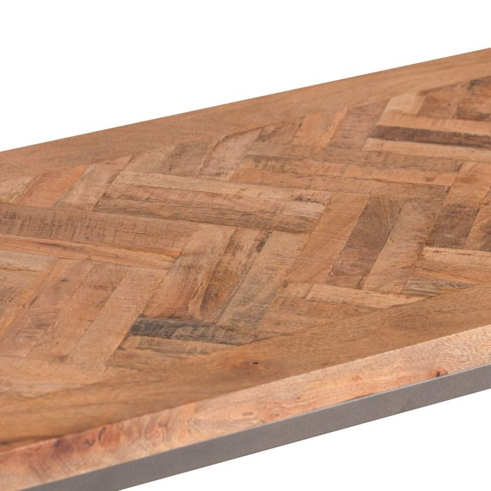 Hoxton Collection Console Table With Parquet Top - Cosy Home Interiors