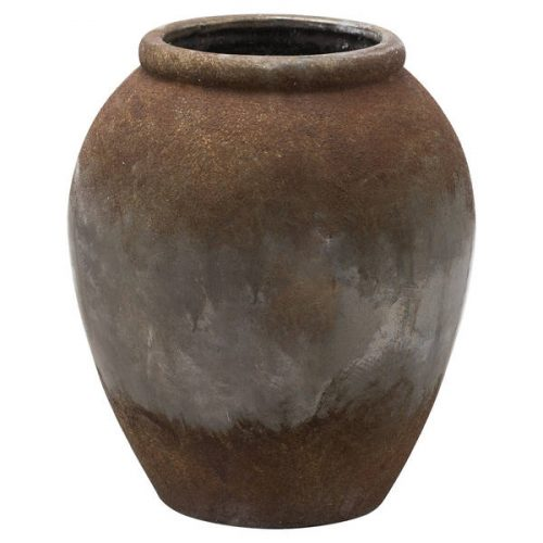 Castello Aged Stone Tall Vase - Cosy Home Interiors