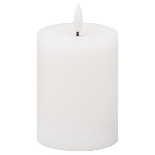 Luxe Collection Natural Glow 3x4 LED White Candle - Cosy Home Interiors