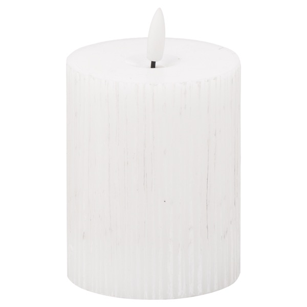 Luxe Collection Natural Glow 3x4 Textured Ribbed LED Candle - Cosy Home Interiors