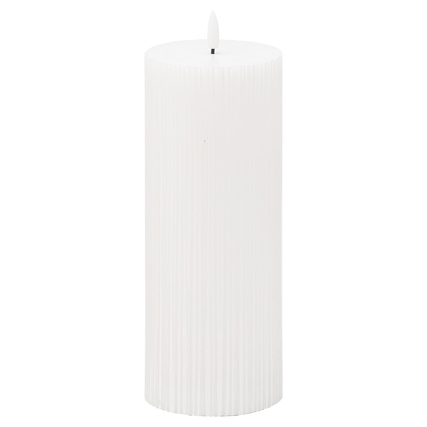 Luxe Collection Natural Glow 3.5x9 Texture Ribbed LED Candle - Cosy Home Interiors