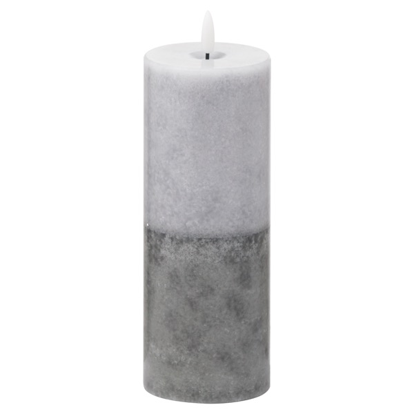 Luxe Collection Natural Glow 3x8 Grey Dipped LED Candle - Cosy Home Interiors