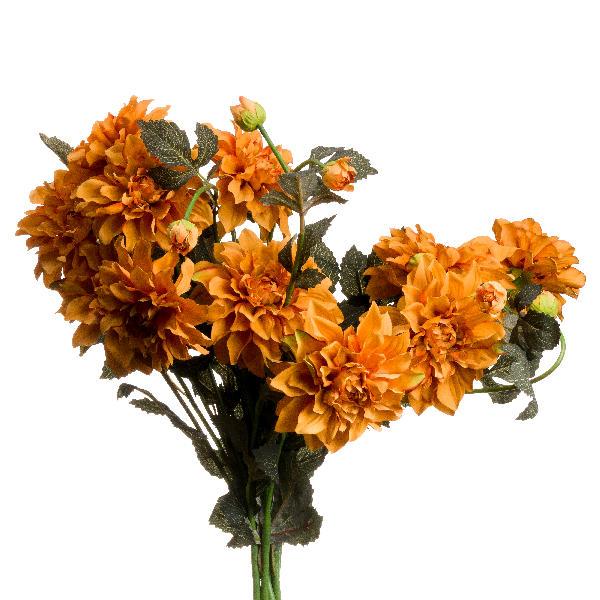 Orange Dahlia Spray - Cosy Home Interiors