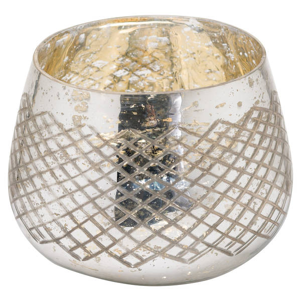 The Noel Collection Mercury Tealight Holder - Cosy Home Interiors
