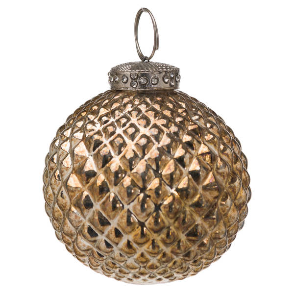 The Noel Collection Burnished Christmas Bauble - Cosy Home Interiors