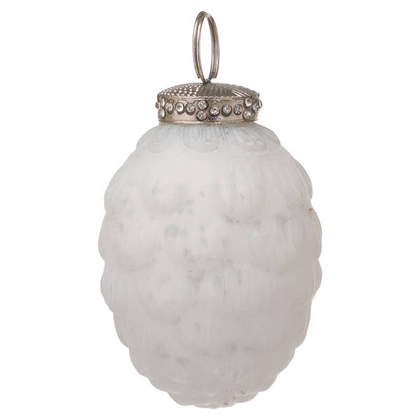 The Noel Collection White Hanging Acorn - Cosy Home Interiors