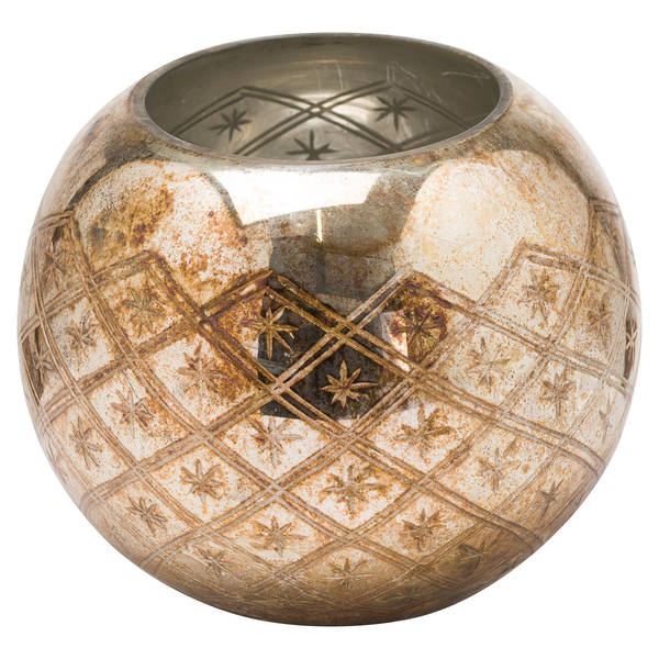 The Noel Collection Squat Burnished Votive Candle Holder - Cosy Home Interiors