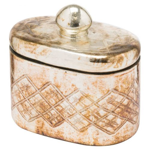 The Noel Collection Burnished Trinket Jar - Cosy Home Interiors