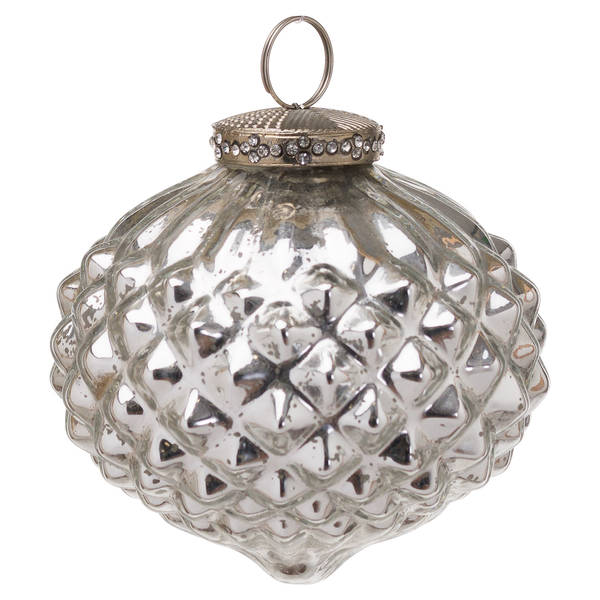 The Noel Collection Mercury Textured Large Hanging Bauble - Cosy Home Interiors