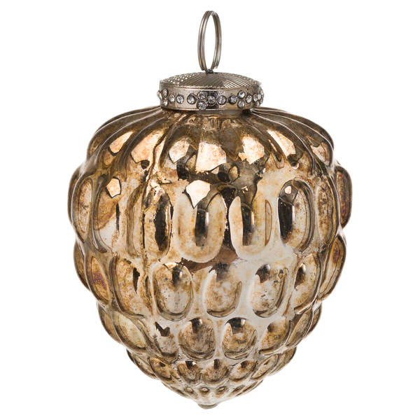 The Noel Collection Burnished Acorn Hanging Bauble - Cosy Home Interiors