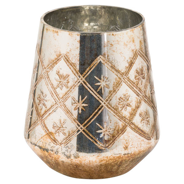 The Noel Collection Large Burnished Decorative Vase - Cosy Home Interiors