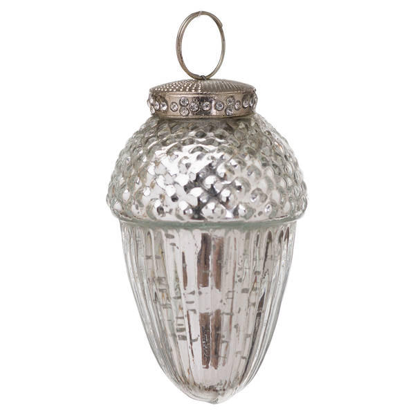 The Noel Collection Small Mercury Hanging Acorn Decoration - Cosy Home Interiors