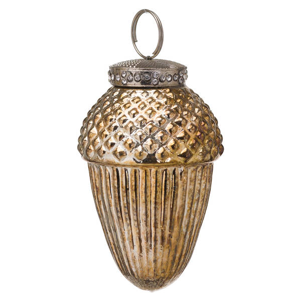 The Noel Collection Burnished Hanging Acorn Decoration - Cosy Home Interiors