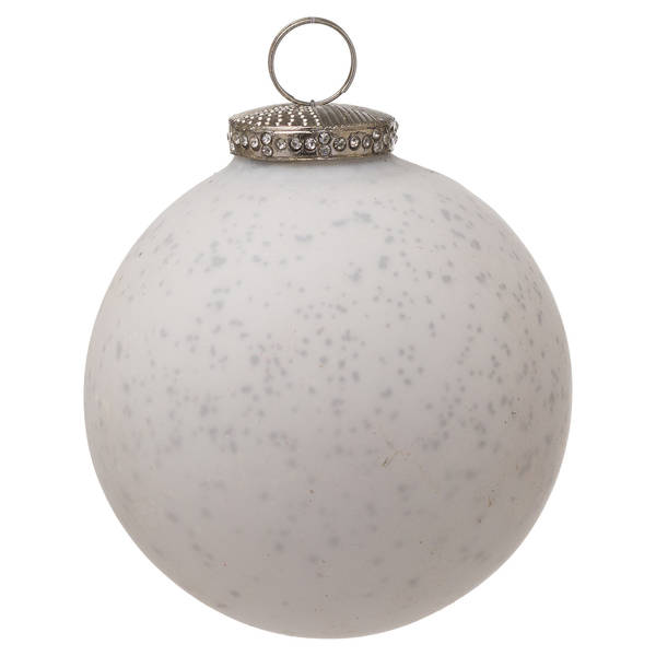 The Noel Collection White Bauble - Cosy Home Interiors
