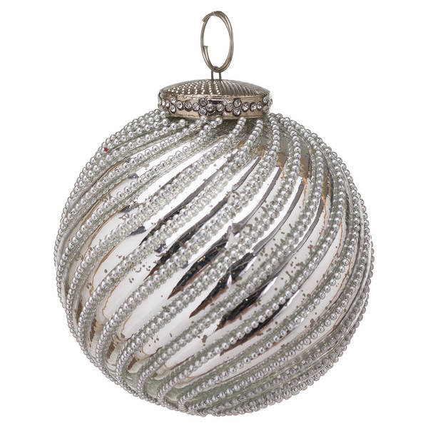 The Noel Collection Mercury Jewel Swirl Large Bauble - Cosy Home Interiors