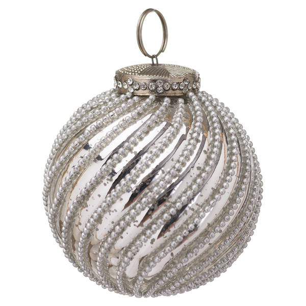 The Noel Collection Mercury Jewel Swirl Small Bauble - Cosy Home Interiors