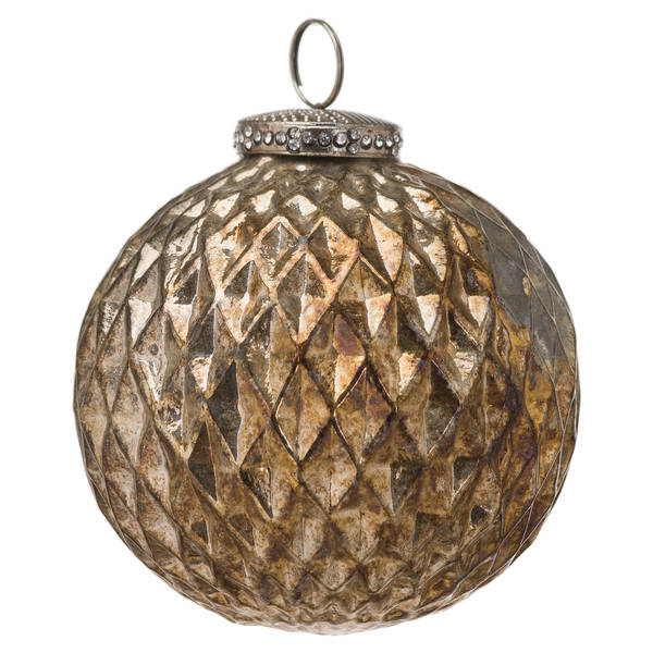 The Noel Collection Burnished Large Honeycomb Bauble - Cosy Home Interiors