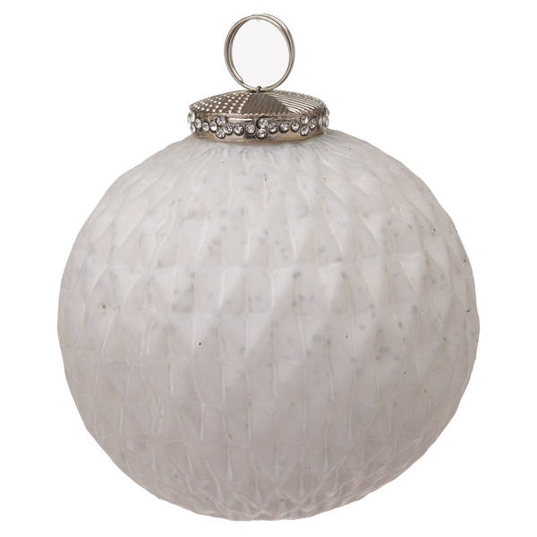 The Noel Collection White Large Honeycomb Bauble - Cosy Home Interiors