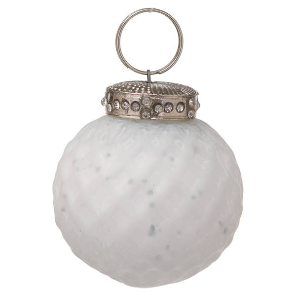 The Noel Collection White Small Honeycomb Bauble - Cosy Home Interiors