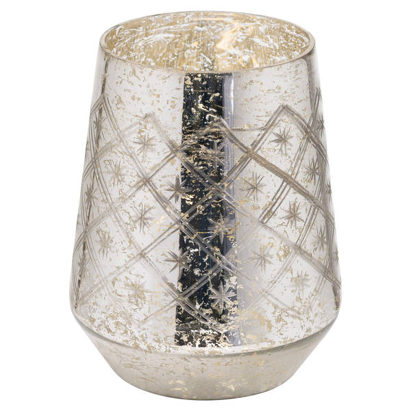 The Noel Collection Mercury Medium Etched Candle Holder - Cosy Home Interiors