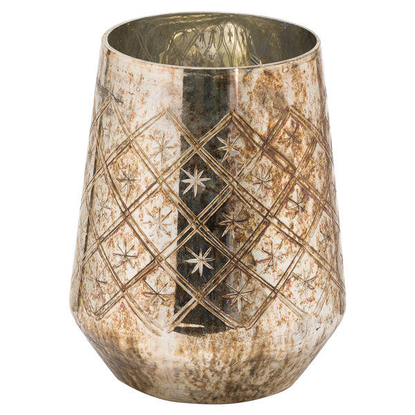 The Noel Collection Burnished Medium Etched Candle Holder - Cosy Home Interiors