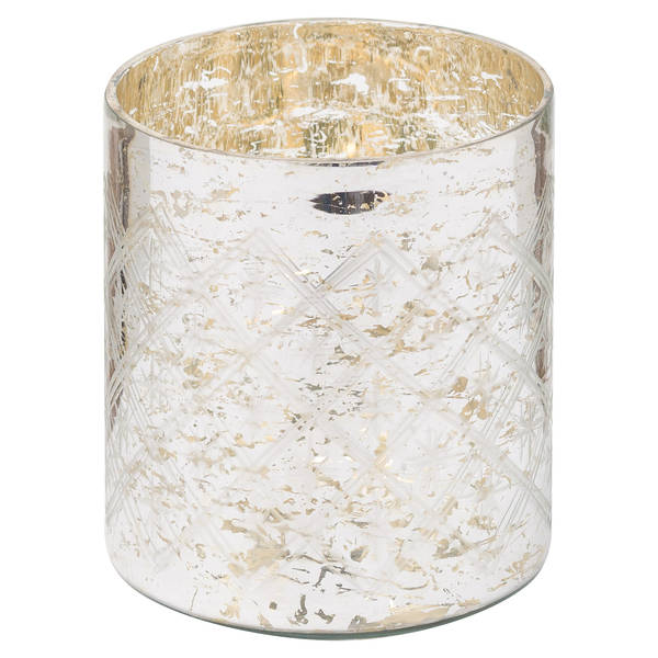 The Noel Collection Mercury Pillar Candle Holder - Cosy Home Interiors