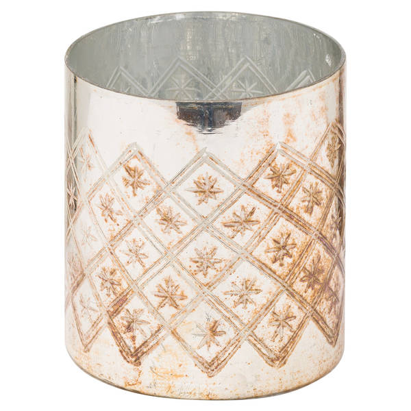 The Noel Collection Burnished Pillar Candle Holder - Cosy Home Interiors