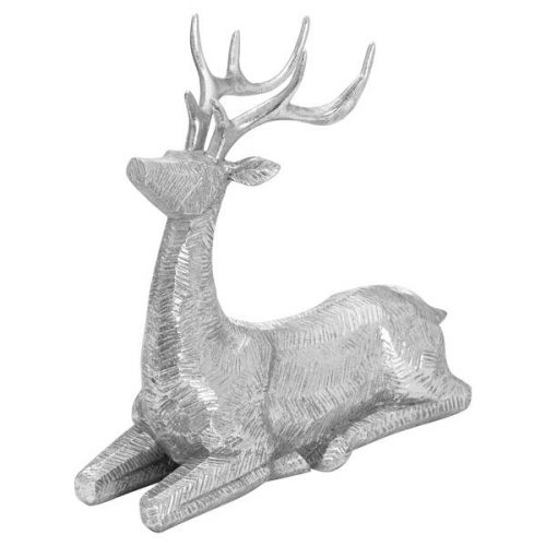 Decortive Wood Effect Sitting Deer - Cosy Home Interiors