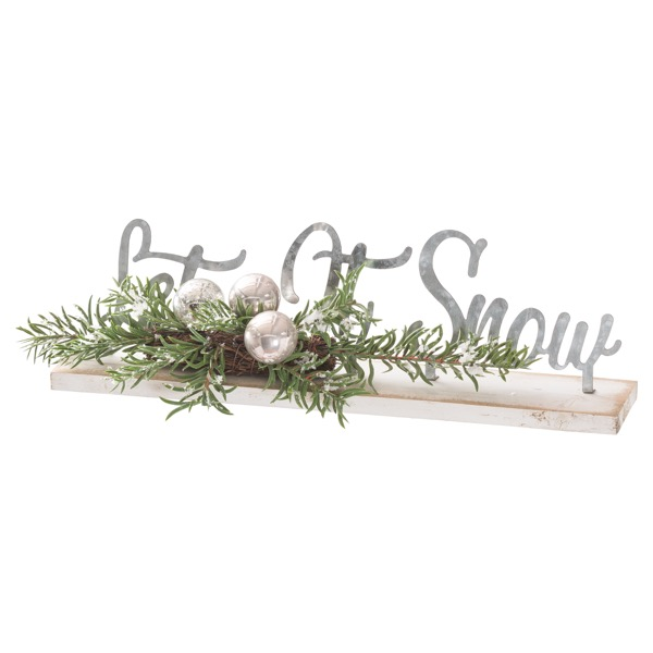 The Noel Collection Let It Snow Table Sitting Sign - Cosy Home Interiors