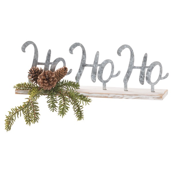 The Noel Collection Ho Ho Ho Table Sitting Sign - Cosy Home Interiors