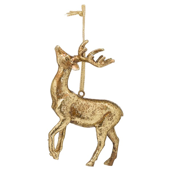 Hanging Gold Stag Ornament - Cosy Home Interiors