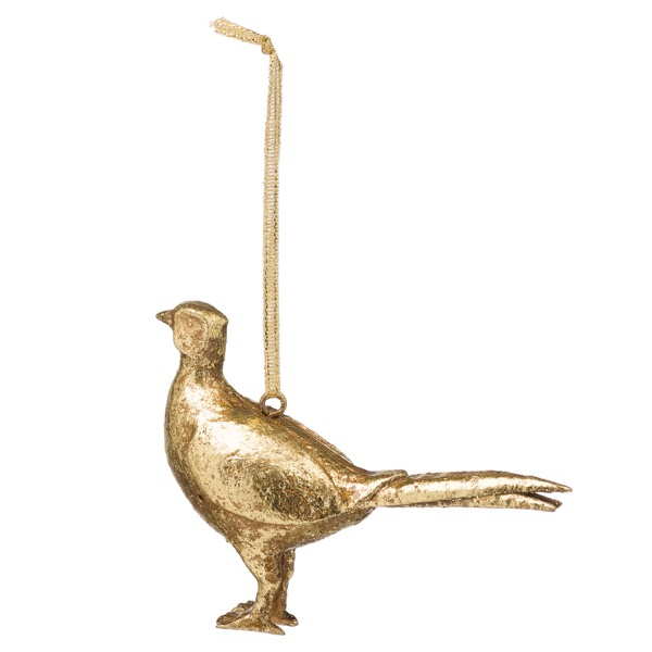 Hanging Gold Pheasant Ornament - Cosy Home Interiors