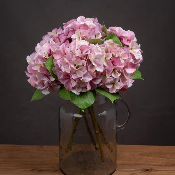 Shabby Pink Single Hydrangea - Cosy Home Interiors