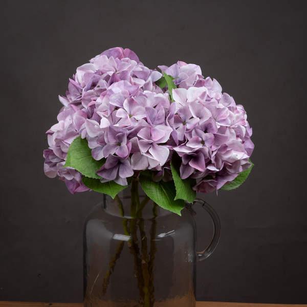 Shabby Purple Single Hydrangea - Cosy Home Interiors
