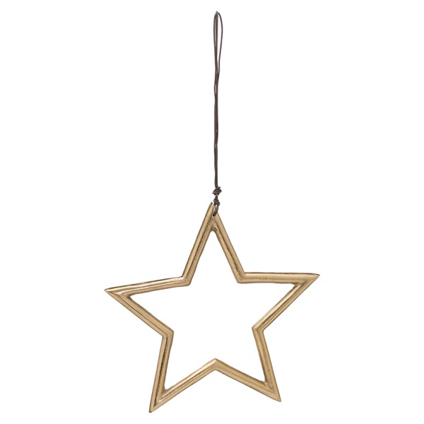 The Noel Collection Hanging Medium Brass Star - Cosy Home Interiors