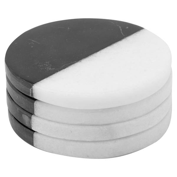 Set Of 4 Marble Coasters - Cosy Home Interiors