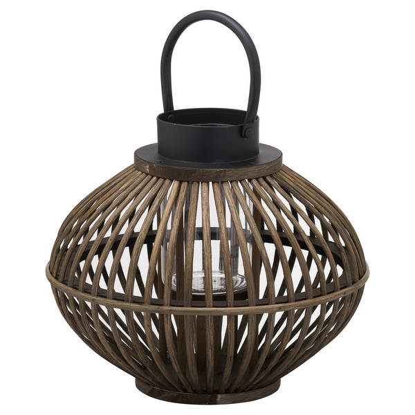 Brown Bamboo Style Lantern - Cosy Home Interiors