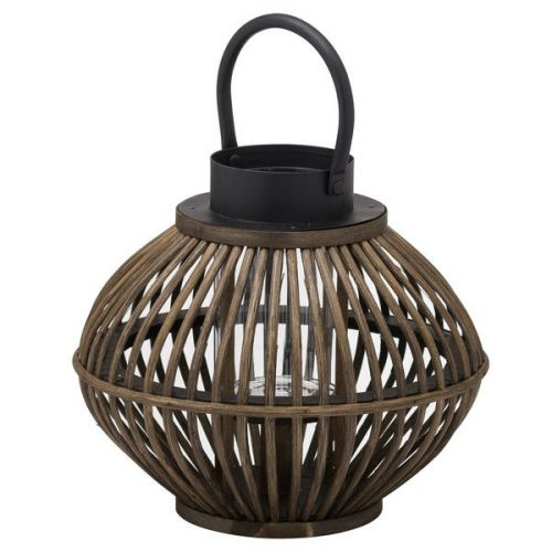 Brown Bamboo Style Large Lantern - Cosy Home Interiors