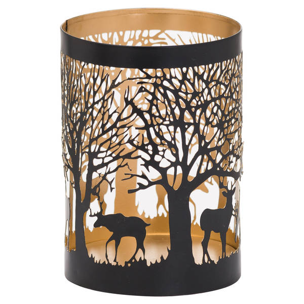 Medium Glowray Stag In Forest Lantern - Cosy Home Interiors