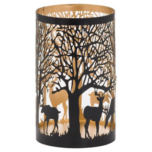 Large Glowray Stag In Forest Lantern - Cosy Home Interiors