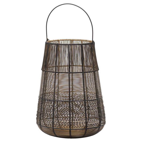 Large Wire Glowray Conical Lantern - Cosy Home Interiors
