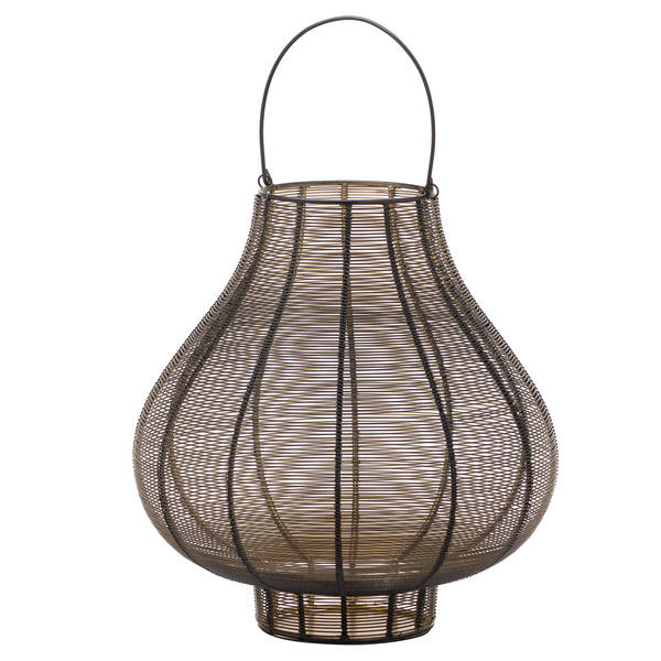 Large Glowray Bulbos Wire Lantern - Cosy Home Interiors