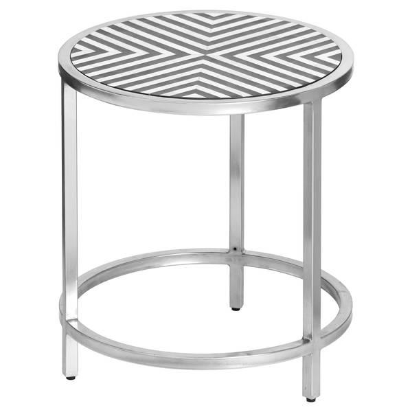 Handmade Bone Inlay Round Side Table - Cosy Home Interiors