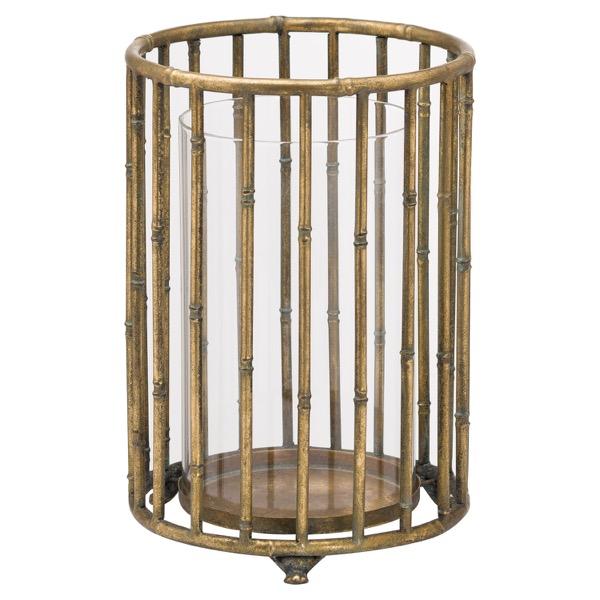 Large Metallic Bamboo Lantern - Cosy Home Interiors