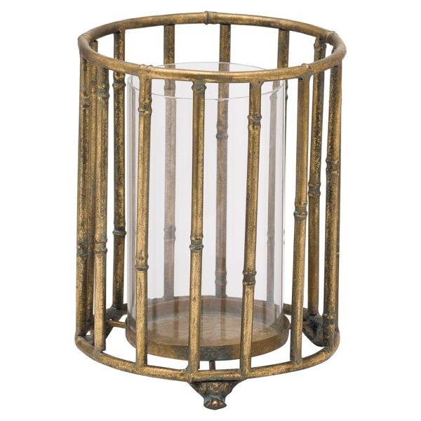 Metallic Bamboo Lantern - Cosy Home Interiors