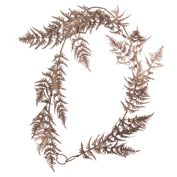 Antique Silver Faux Fern Garland - Cosy Home Interiors